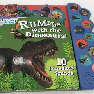 🟣🟣🟣Rumble w/Dinosaurs Discover Kids Board Book